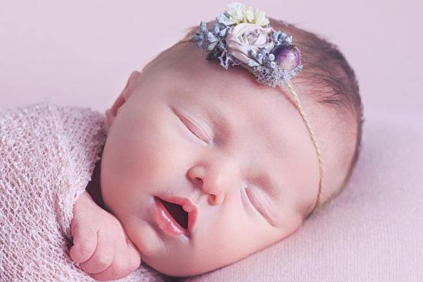photo of sleeping newborn baby