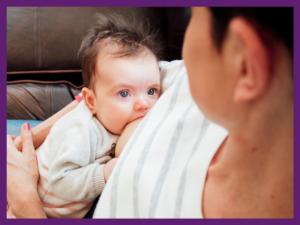 image of baby breastfeeding