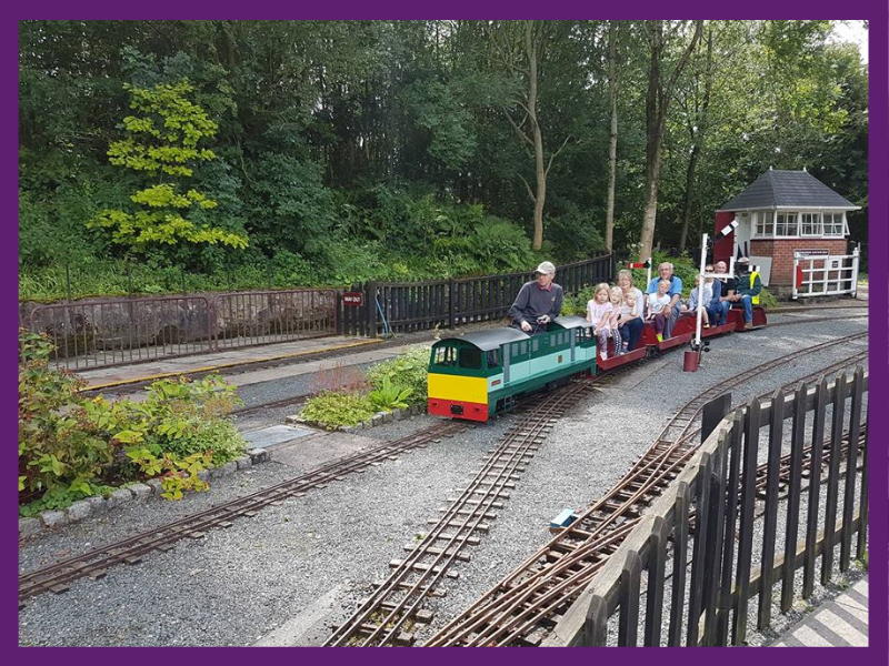 image of miniature railway at cinderbarrow, days out with kids