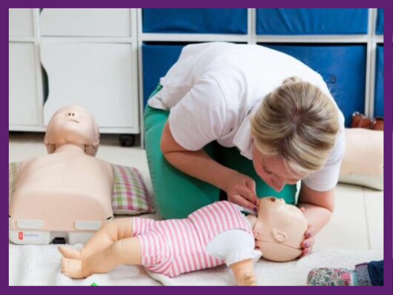 image of person teaching first aid for babies