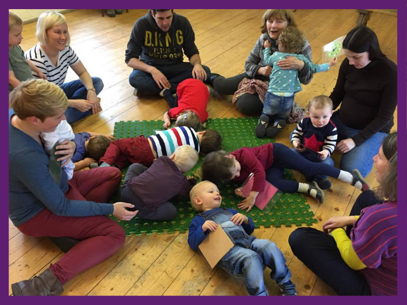 image of parents, babies and toddlers at a playgroup