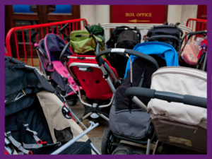image of a large group of prams