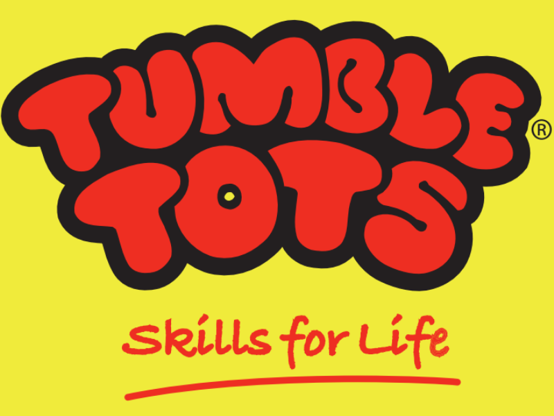 logo for tumble tots, gymanstics for babies, toddlers and preschoolers