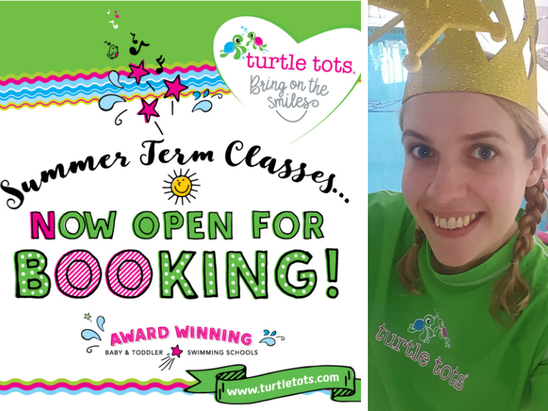 turtle tots baby and toddler swimming classes summer term open for booking