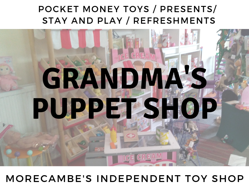 photo of toys at Grandma's puppet shop, independent toy shop in Morecambe