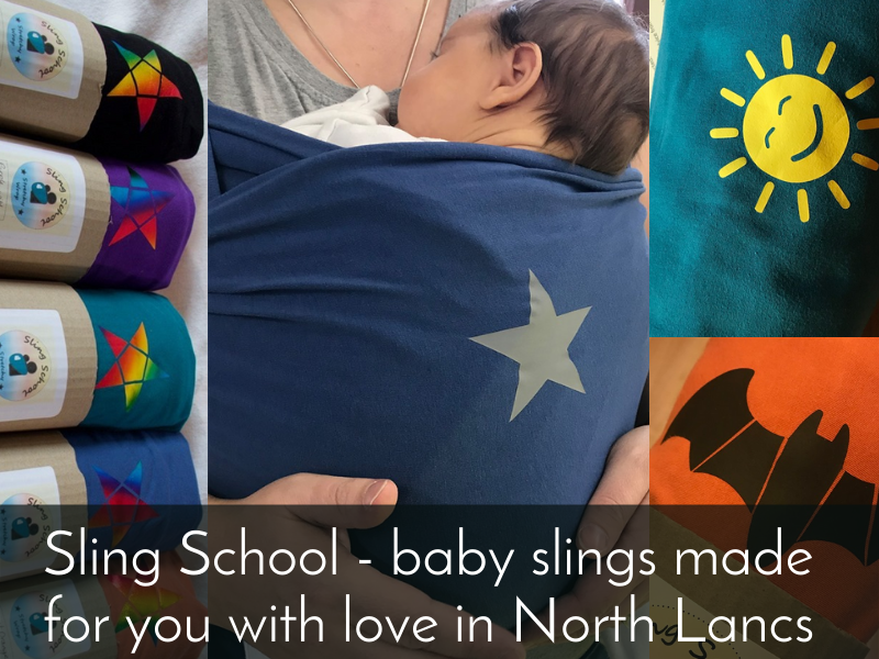 sling school - baby slings made in North Lancashire