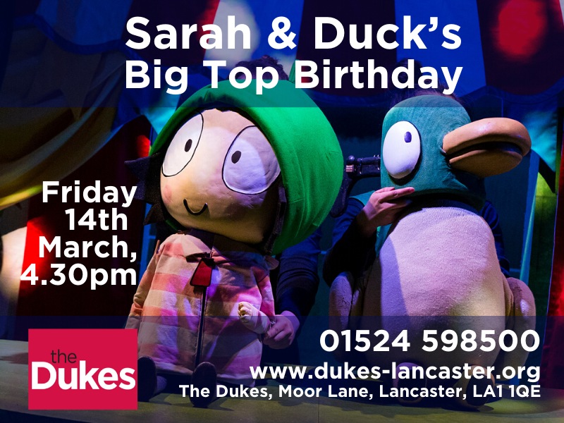 sarah and duck show at the dukes